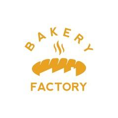 bakery factory shop logo vector