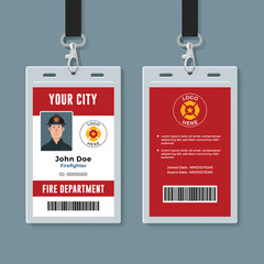 Firefighter ID badge design template