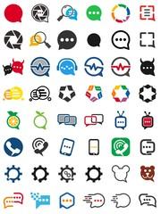bubble talk logo. communication icon. dialogue symbol. vector eps 08.