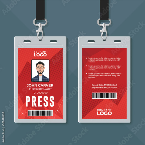 press id card design template stock image and royalty free vector