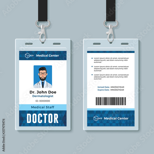 u0026quot doctor id card  medical identity badge design template