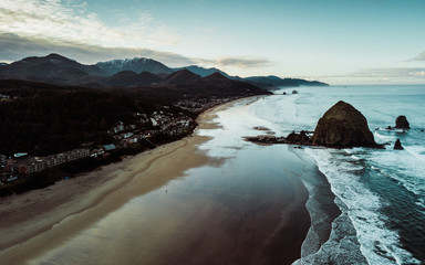 Cannon Beach Aerial View Wall mural