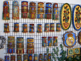 Traditional Spanish colorful ceramic wall decoration