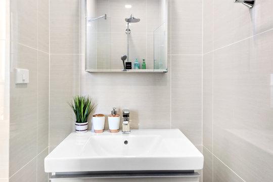 Small bathroom in condominium
