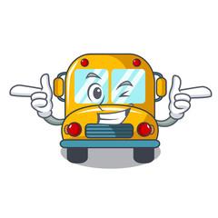 Wink school bus character cartoon