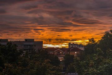Sunrise over Stockholm Sweden