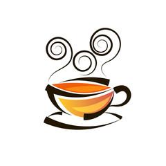 Logo design tea logo vector template.