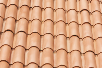 Elements of roofing material. Roofing tile. Background image.