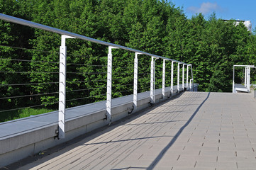 steel railing with wire ropes