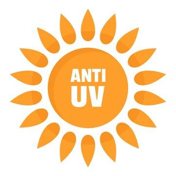 Anti uv logo. Flat illustration of anti uv vector logo for web design