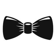Retro bow tie icon. Simple illustration of retro bow tie vector icon for web design isolated on white background