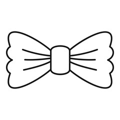 Vintage bow tie icon. Outline vintage bow tie vector icon for web design isolated on white background