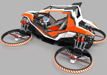 Compact single-seater quadrupter for private use. Small urban vehicle with an electric motor.