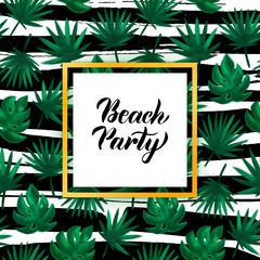Beach Party Tropical Concept
