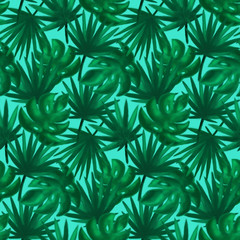 Nature Tropical Leaf Seamless Pattern