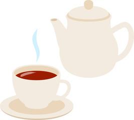 紅茶とティーポット
