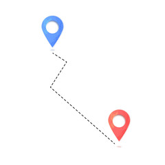 Location mark. Composition with map pointer. Vector illustration.
