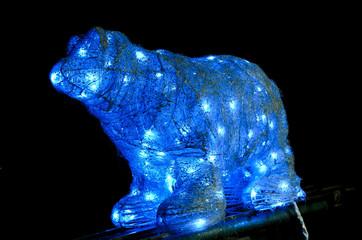 Polar bear. Christmas background.
