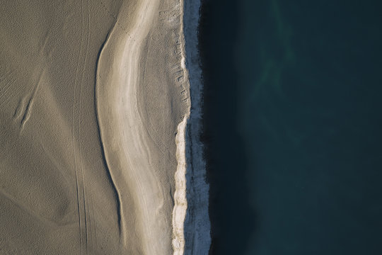 Aerial view of beach