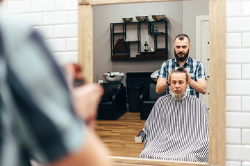 Men in barbershop