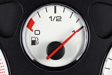 fuel gauge in car dashboard - full