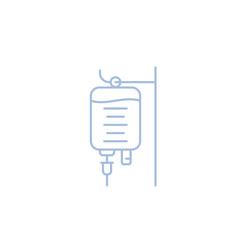iv bag, medical drip isolated linear icon