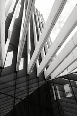 Black and White modern structure building photography