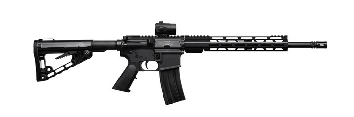 modern rifle isolated on white