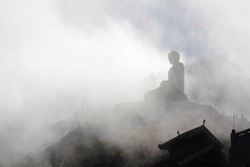 Buddha statue on the top of Fansipan mountain, Vietnam