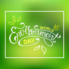 World environment day hand lettering card