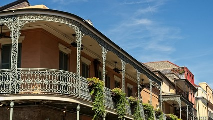 Old French Quarter Buildings with Balcony #4