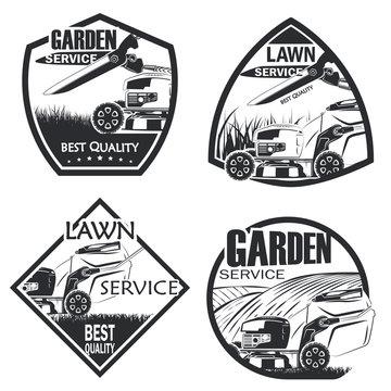 Set of 4 lawn service