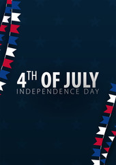 Poster of Fourth of July. 4th of July. Independence Day of the USA. Vector illustration