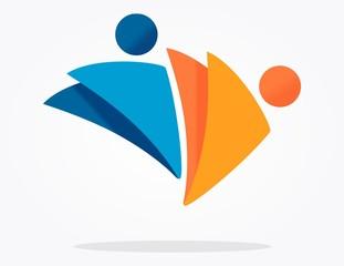 Logotipo moderno personas
