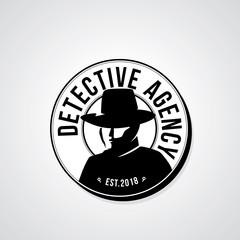 Detective agency badge design. Vector illustration