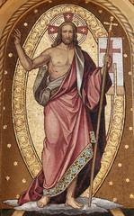 Resurrection of Christ, mosaic, Mirogoj cemetery in Zagreb, Croatia