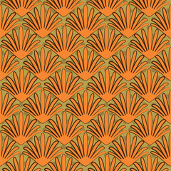 Seamless  pattern in art nouveau style, vector illustration