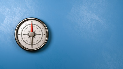 Compass Against a Wall with Copyspace