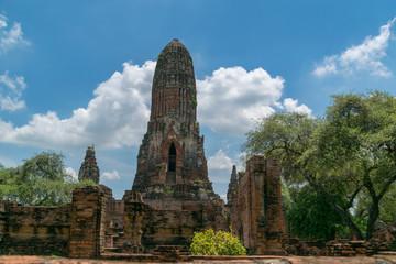 Phra Ram temple in Ayutthaya, Thailand