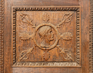 Detail of a fine wood carving