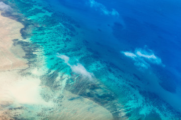 Tropical ocean from above