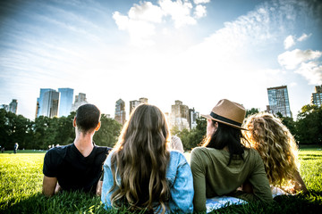 Group of friends in Central Park