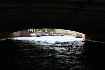 Under the bridges of Saint Petersburg, Russia