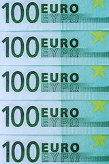 abstract fragment the banknote of 100 euros