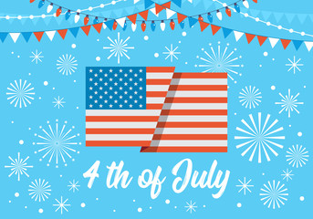 4th of July banner design