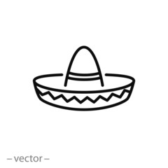 sombrero vector icon