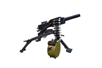 automatic grenade launcher isolated on a white background