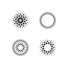 Halftone dots forms