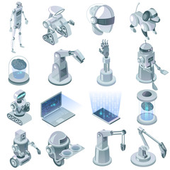 Artificial Intelligence Isometric Set