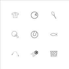 Sport And Recreation outline vector icons set